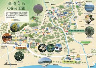 Olive Hill Walking Map ②(Chinese)
