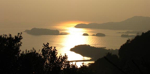 夕陽スポット -小豆島霊場第42番 西之瀧-
